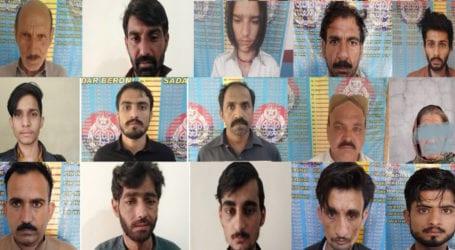 راولپنڈی پولیس کی انسدادِ منشیات مہم، چرس، ہیروئن اور شراب برآمد، 95 ملزمان گرفتار