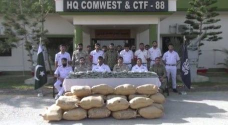 پاک بحریہ اور اے این ایف کا مشترکہ انسدادِ منشیات آپریشن، 2 ارب روپے کی منشیات برآمد