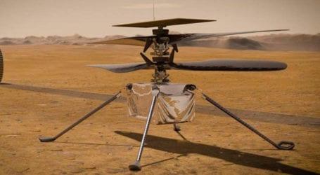 ناسا کے ہیلی کاپٹر انجیونیٹی کی مریخ پر پہلی کامیاب پرواز مکمل