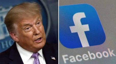 فیس بک کا ڈونلڈ ٹرمپ کا اکاؤنٹ عارضی طور پر معطل رکھنے کا فیصلہ