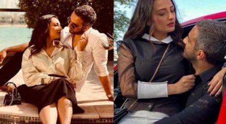 اداکارہ مومل شیخ کا اپنے شوہر کے ہمراہ فوٹو شوٹ، تصاویر وائرل ہوگئیں