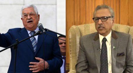 پاکستان فلسطینیوں بھائیوں کے حقوق کے لیے آواز بلند کرتا رہے گا، صدر عارف علوی