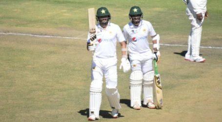 ہرارے: دوسرا ٹیسٹ میچ، پاکستان نے 4وکٹوں کے نقصان پر 268رنز بنا لیے