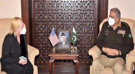آرمی چیف سے امریکی ناظم الامور کی ملاقات، افغان امن عمل پر گفتگو