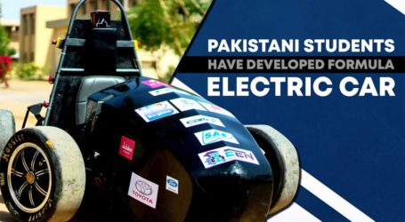این ای ڈی کے طلباء نے پاکستان کی دوسری فارمولہ الیکٹرک کار تیار کرلی