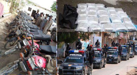 کراچی پولیس کی کامیاب کارروائیاں، مختلف جرائم میں ملوث 656 ملزمان گرفتار