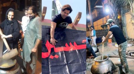 تصویری تجزیہ ، یوم عاشور پر پاکستان کی مشہور شخصیات کی تیاریاں