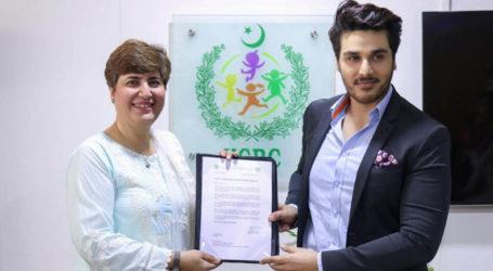 احسن خان کو این سی آر سی نے حقوق پاکستان پروجیکٹ کیلئے اپنا خیر سگالی کا سفیر مقرر کردیا