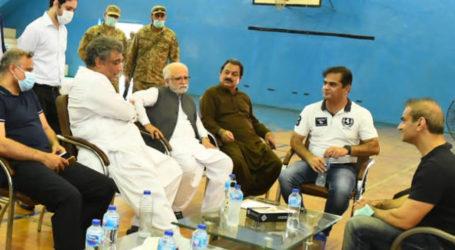 وفاقی وزیر علی زیدی کا کراچی پورٹ ٹرسٹ اسپورٹس کمپلیکس کا دورہ