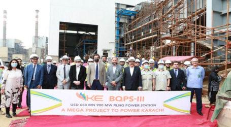 وفاقی وزیر صنعت و پیداوار کا کے الیکٹرک بن قاسم پاوراسٹیشن IIIکا دورہ
