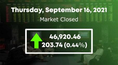 اسٹاک مارکیٹ،100 انڈیکس میں 203 پوائنٹس کا اضافہ