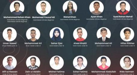 پاکستان کے جوجٹسو کھلاڑیوں نے 9میڈلز جیت کر قوم کا سر فخر سے بلند کیا