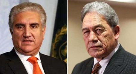 FM Qureshi telephones Zealand Deputy PM to discuss IOK situation