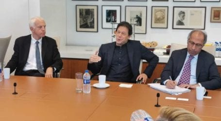 PM Imran Khan meets with journalists in New York