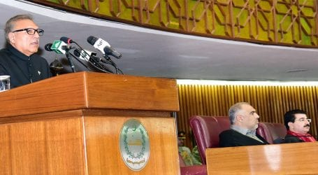 President Alvi addresses joint Parliamentary session