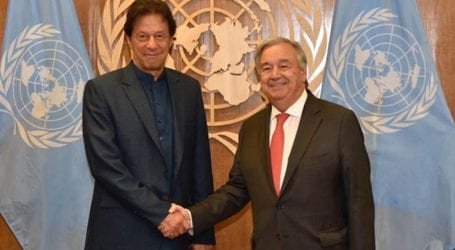 PM Khan briefs UN chief over situation in held Kashmir