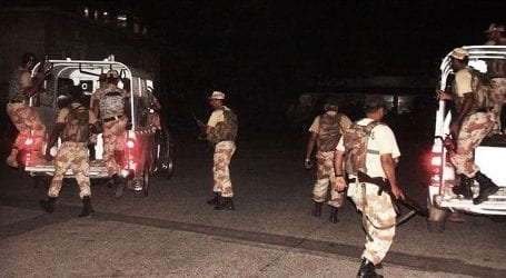 Rangers apprehend 13 suspects during raids in Karachi