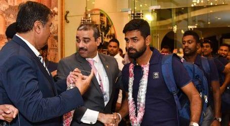 Sri Lanka cricket team arrives in Pakistan for ODI matches