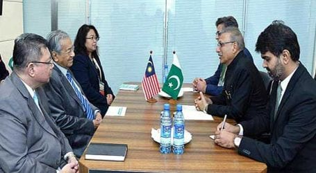 President Alvi, Malaysian PM discuss trade & investment