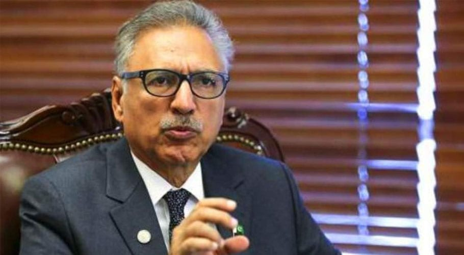 President Alvi urges Ulema to advise nation to stay indoors