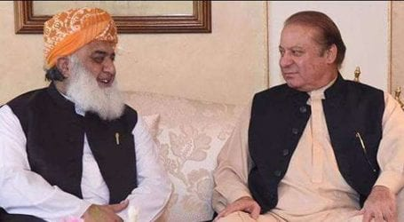JUI-F Chief checks on Nawaz Sharif's health in telephonic talk