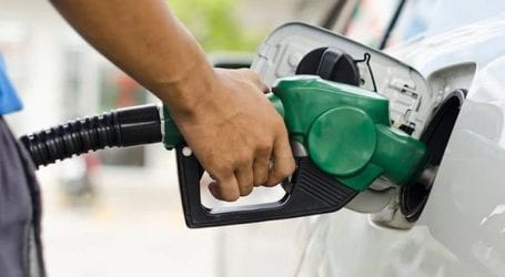 Petrol price reduced by Re0.25 per litre for December