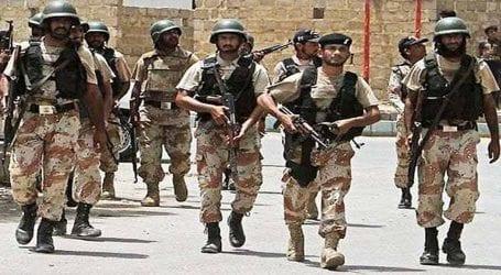Rangers arrest 15 suspects during raids in Karachi