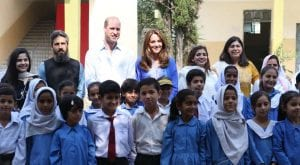 Prince William and Kate Middleton visit Model College for Girls
