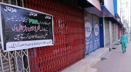 Traders continues shutter-down strike across country