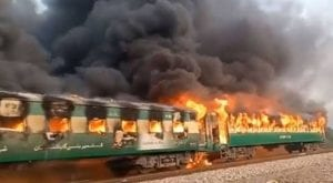 Train fire in Rahim Yar Khan killed 13, injured several