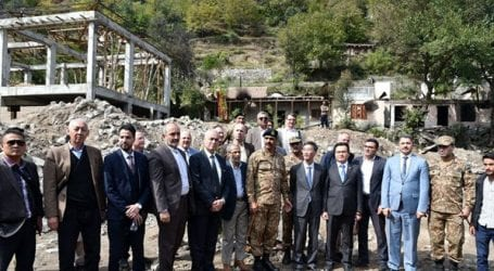 Foreign diplomats visit LoC to review Indian violations