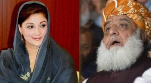 Maryam in telephonic conversation with JUI-F chief applauds Azadi March