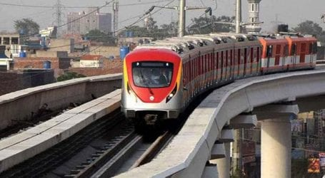 Orange Line Metro Train's test launch on Oct 28 in Lahore