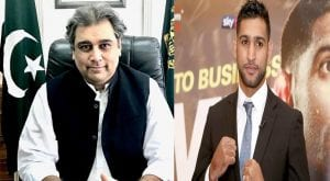 Ali Zaidi and Amir Khan taking credit for squash player's treatment