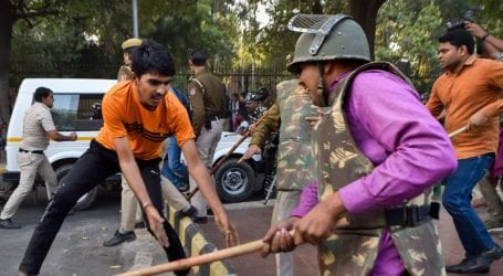 Indian police baton-charges students protesting over fee hike