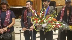 Football players arrives in Pakistan to play exhibition matches