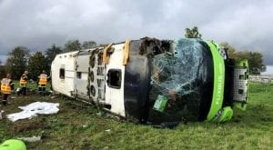 33 passengers injure in France bus mishap
