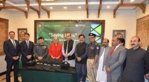 Canadian govt gift helmets, bullet proof vests to KP police
