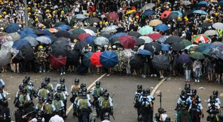 Hong Kong after weekend clashes braces for protests