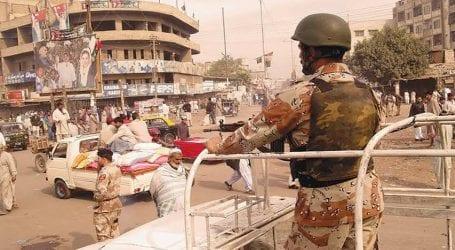 Rangers nab 14 suspected criminals in Karachi