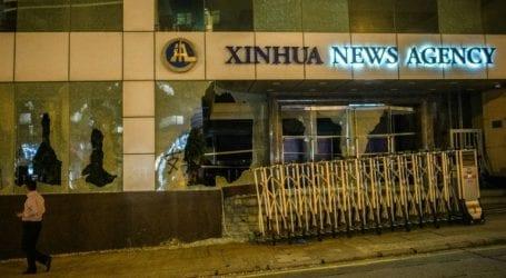 China slams Hong Kong attack on state media office