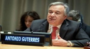 U.N chief expresses serious concerns about North Korea's weapons