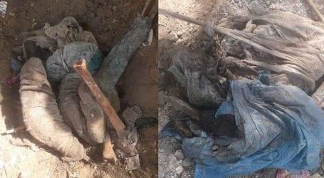 Human bones recovered from Karachi's Annu Bhai Park
