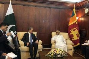 FM Qureshi meets Sri Lankan counterpart, discusses bilateral matters