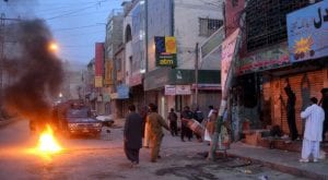 People protest over low gas pressure in Quetta