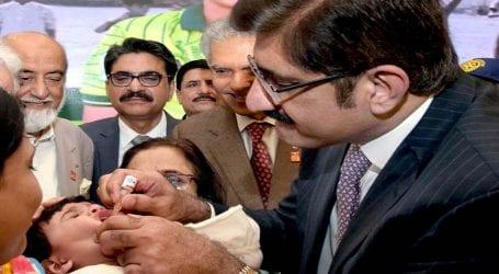 CM Sindh launches anti-polio drive in Gadap Town