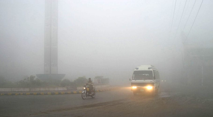 Motorway roads closed as heavy fog engulfs parts of Punjab