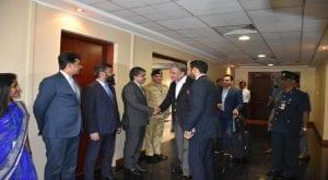 FM Qureshi lands in Sri Lanka for two-day visit