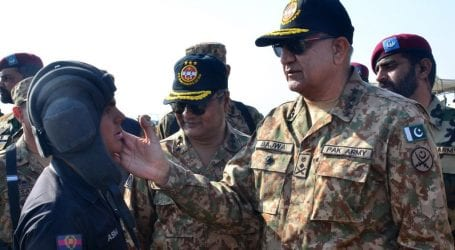 Gen Bajwa hails Saudi contingent at strike corps training exercise