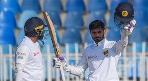 De Silva hits hundred in rain-hit historic Pakistan test